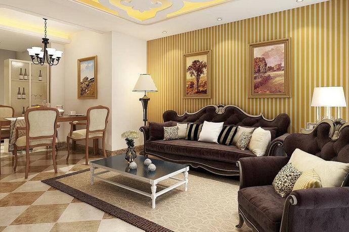 现代欧式璀璨灯光客厅卧室设计效果图